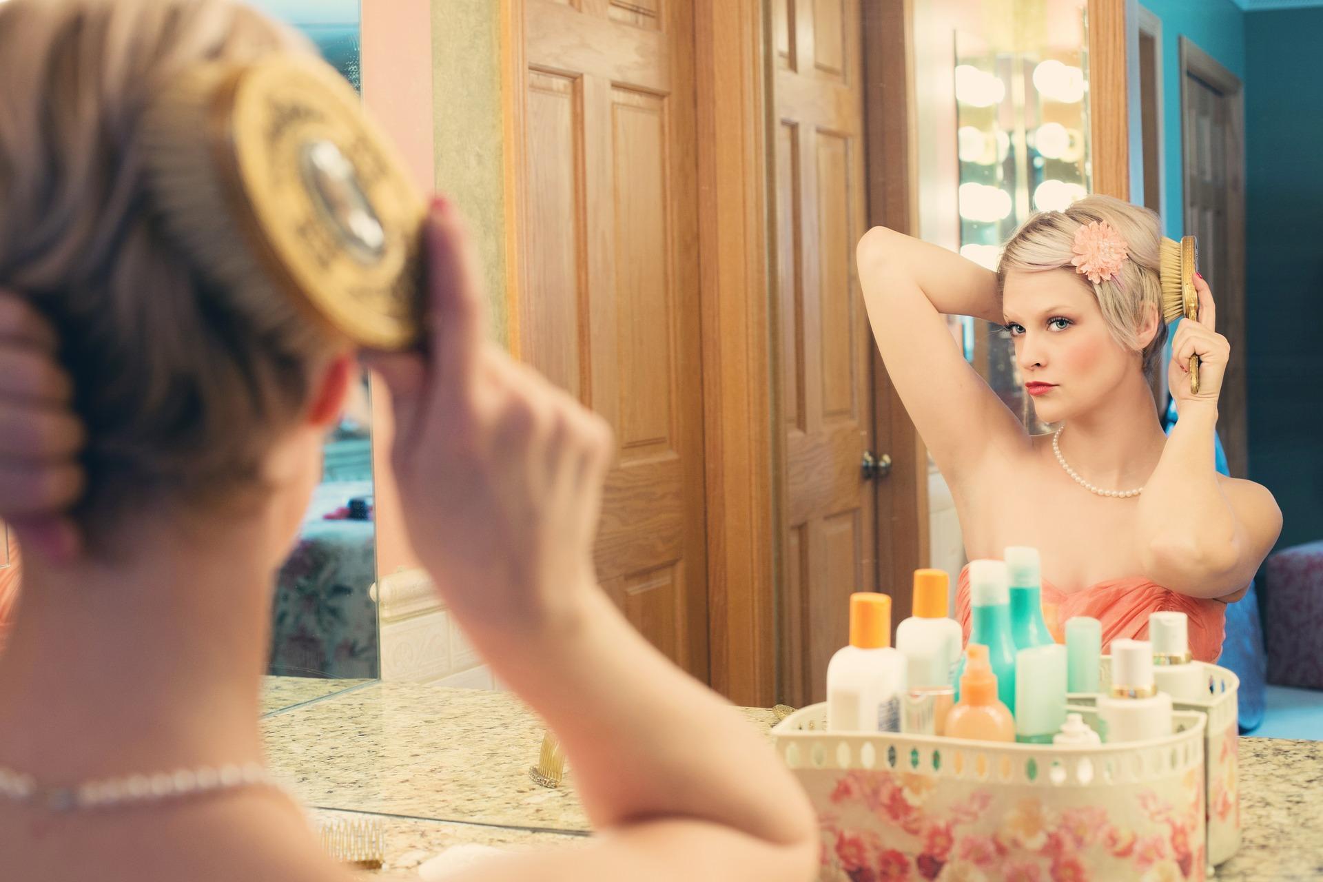 Beautiful woman with amazing makeup